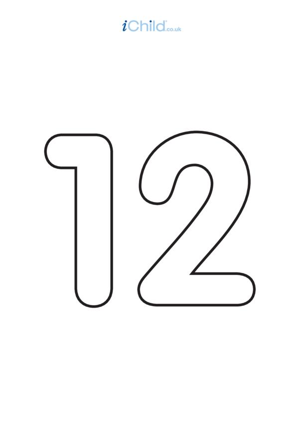 12: Poster - Number 12, Black & White