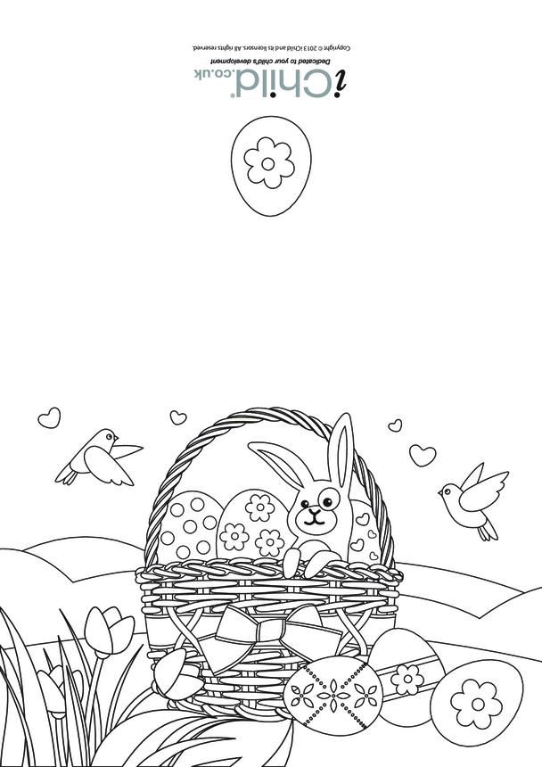 Easter Card (bunny/basket) design
