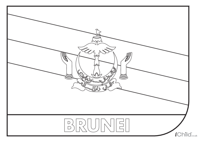 Thumbnail image for the Brunei Darussalam Colouring in Picture (flag of Brunei Darussalam) activity.