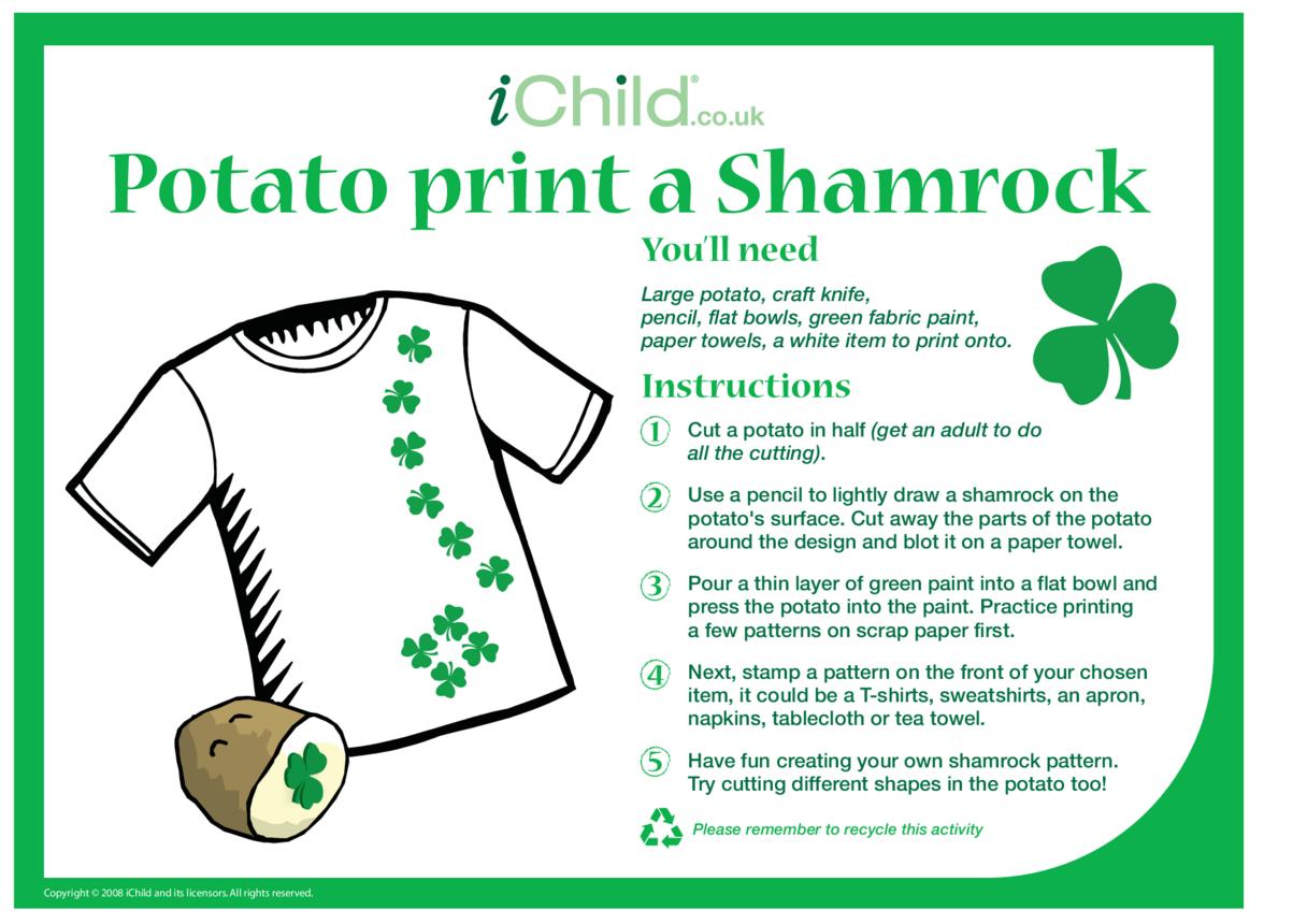 Potato Print a Shamrock