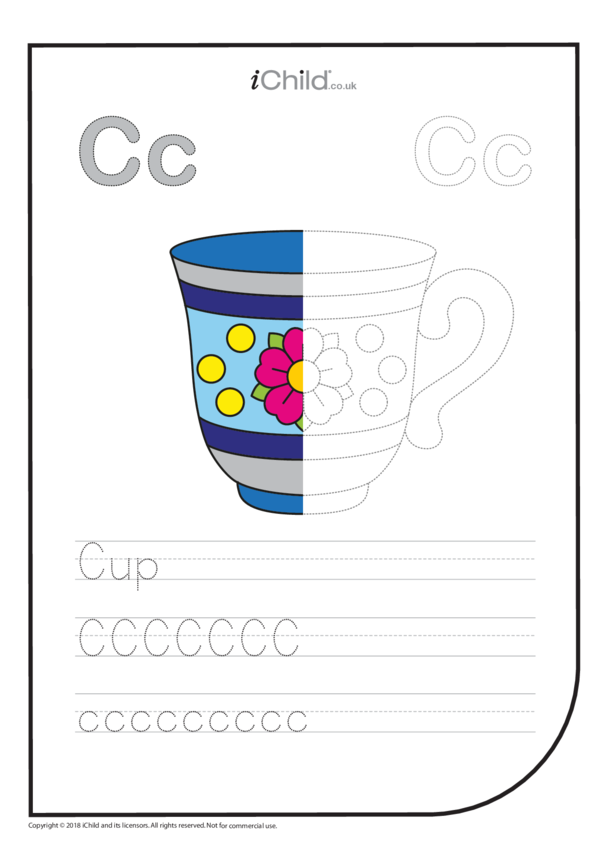 C: Write the Letter C for Cup