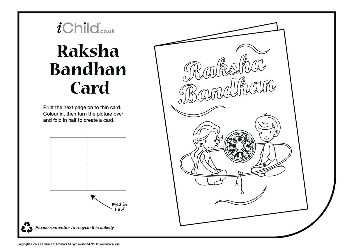 Raksha Bandhan Card (black & white)