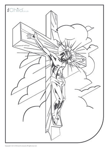 Thumbnail image for the Crucifixion Colouring in Picture activity.