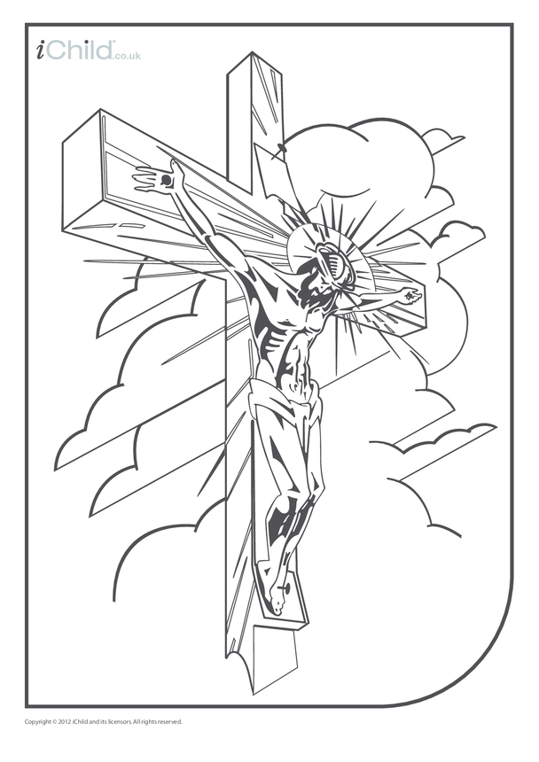 Crucifixion Colouring in Picture