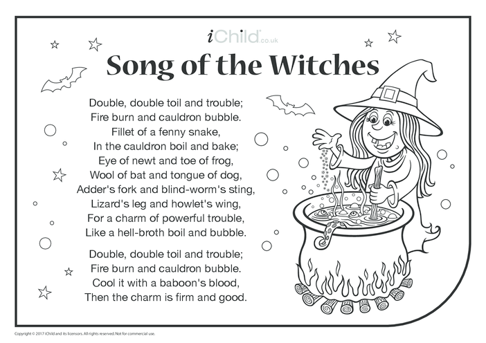 Thumbnail image for the Song of the Witches activity.