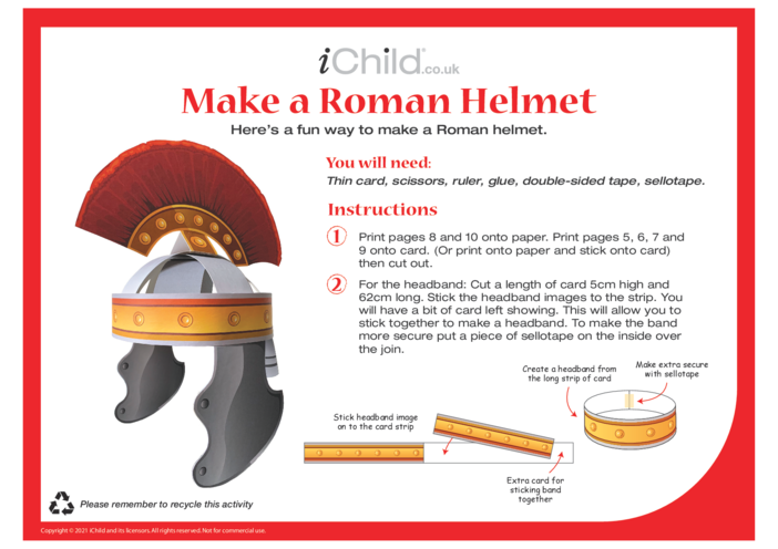 Thumbnail image for the Make a Roman Helmet activity.
