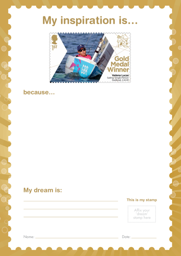 My Inspiration Is- Helena Lucas- Gold Medal Winner Stamp Template