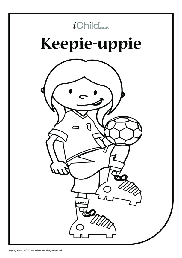 Keepie-Uppie Colouring in Picture (Girl)