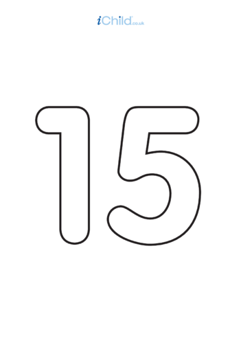 Thumbnail image for the 15: Poster - Number 15, Black & White activity.