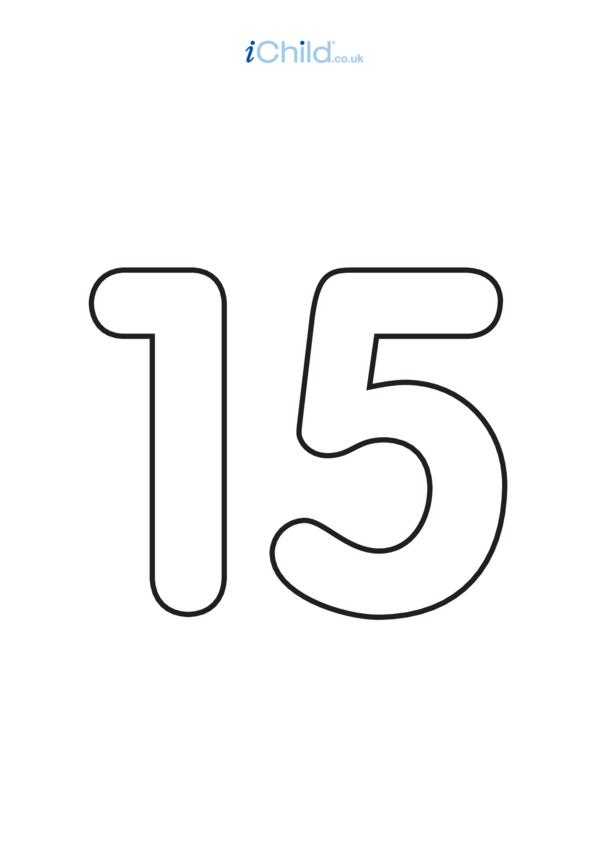 15: Poster - Number 15, Black & White