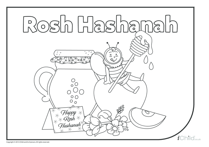Thumbnail image for the Rosh Hashanah Colouring in Picture activity.