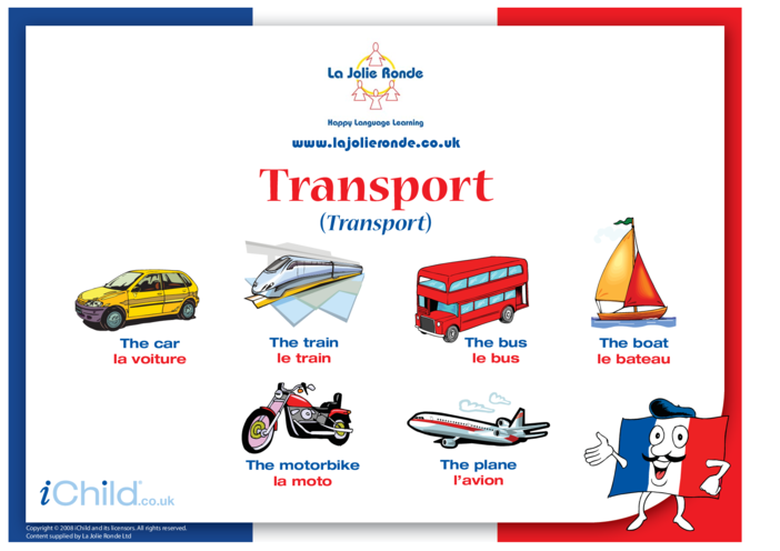 Thumbnail image for the Transport in French activity.