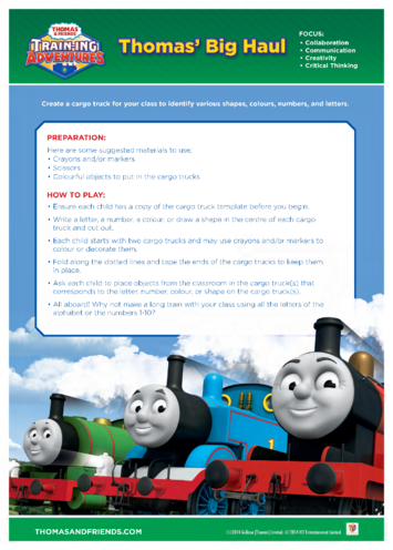 Thumbnail image for the Activity: Thomas' Big Haul (Thomas & Friends) activity.