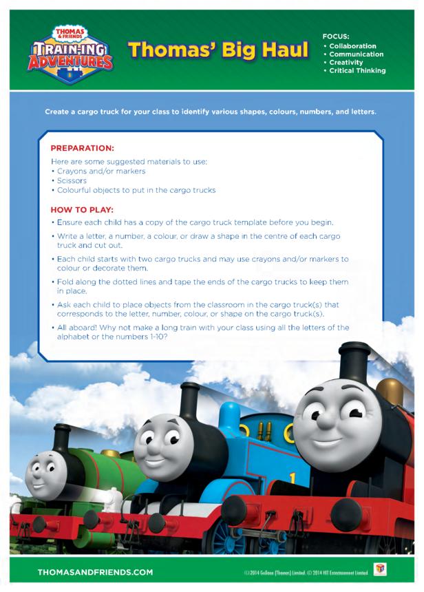 Activity: Thomas' Big Haul (Thomas & Friends)