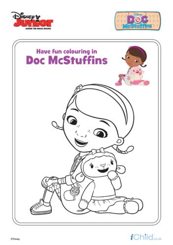 Thumbnail image for the Doc McStuffins & Lambie Colouring- Disney Junior activity.