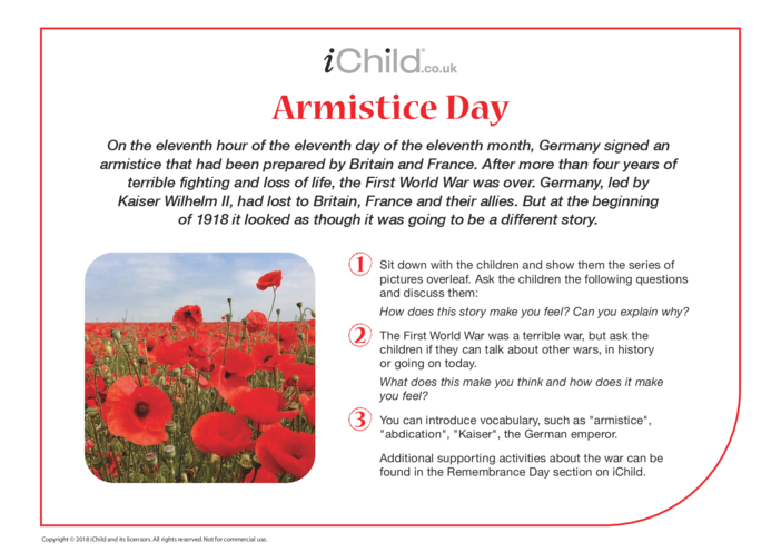 Thumbnail image for the Armistice Day Historical Story activity.