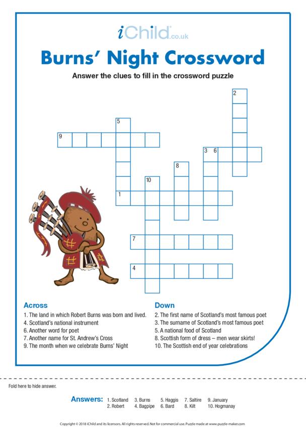 Burns' Night Crossword