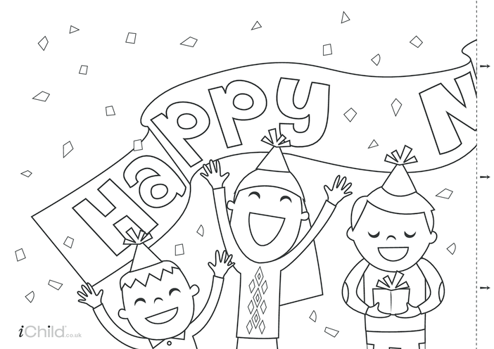 Thumbnail image for the Happy New Year Banner activity.