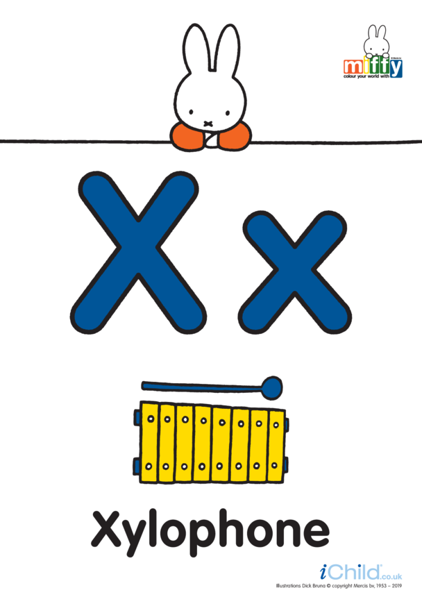 X: Miffy's Letter Xx (less ink)