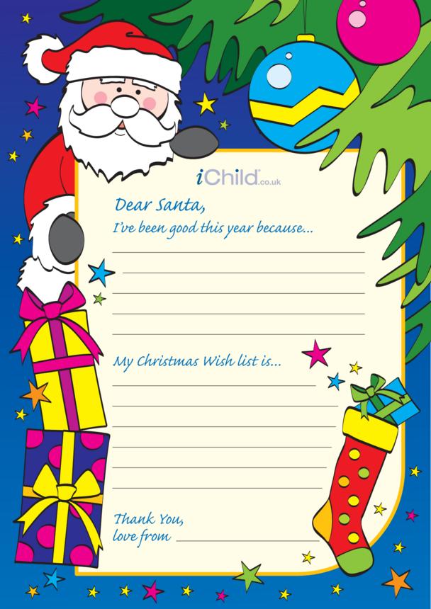 Letter to Santa Template (Colour)