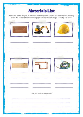 Thumbnail image for the Elephant & Castle Activity: Materials List activity.