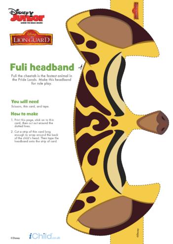 Thumbnail image for the The Lion Guard: Fuli Headband- Disney Junior activity.