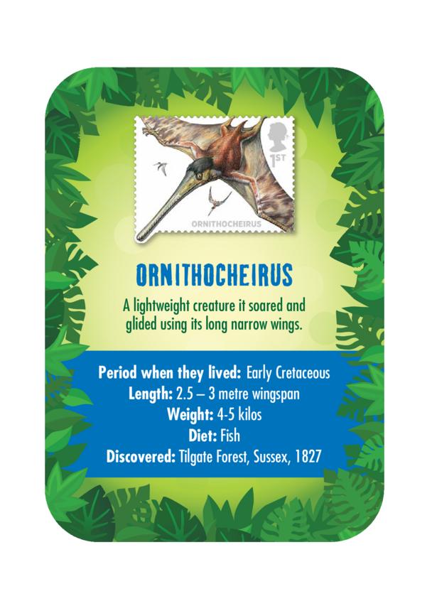 Dinosaur Fact Card- Ornithocheirus (A4)