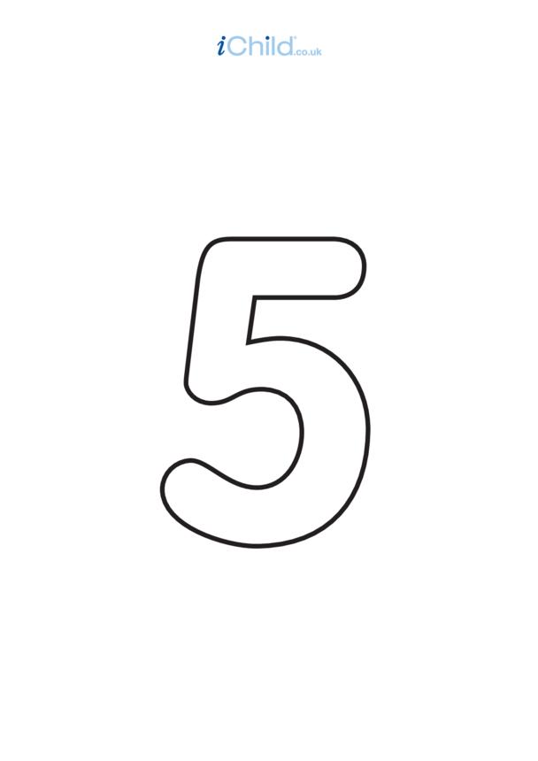 05: Poster - Number 5, Black & White