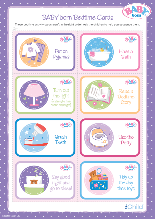 BABY born Bedtime Cards