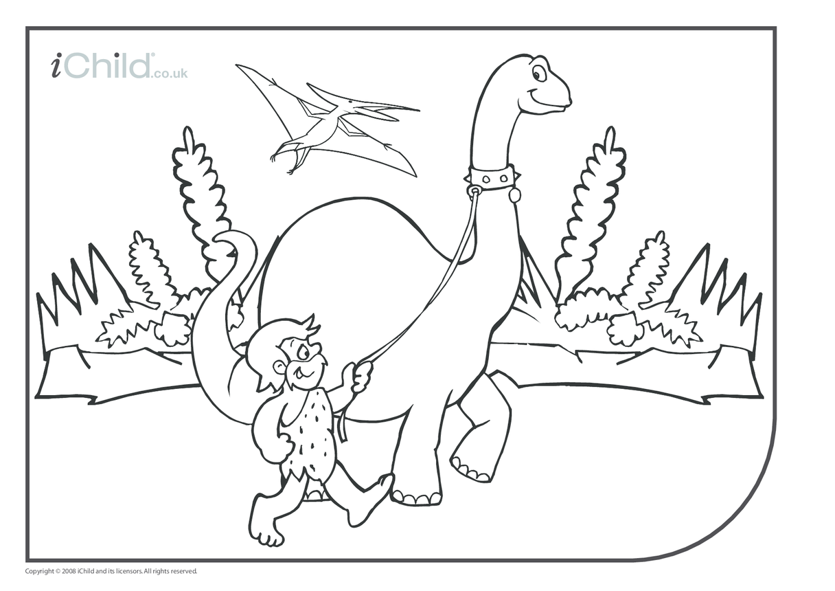 Dinosaur Colouring in picture