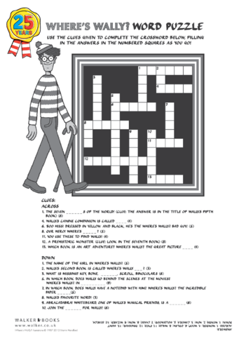 Thumbnail image for the Where's Wally? Crossword activity.
