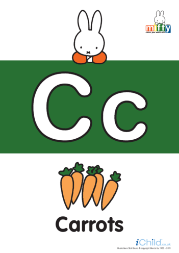 Thumbnail image for the C: Miffy's Letter Cc activity.