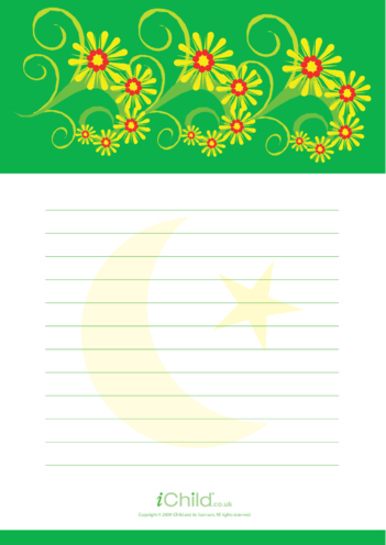 Thumbnail image for the Flower Lined Writing Paper Template activity.