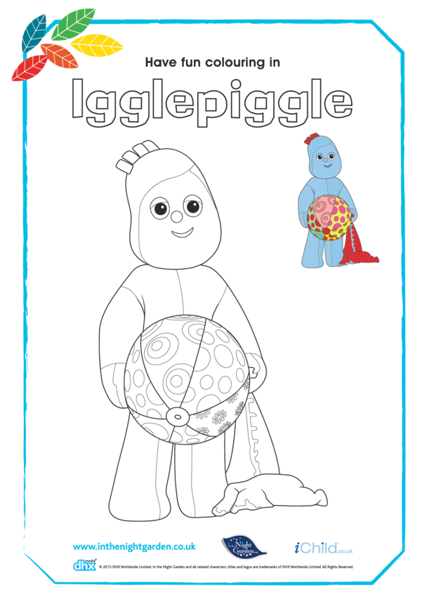 Igglepiggle Colouring in Picture