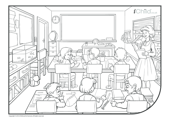 Thumbnail image for the Classroom Colouring in Picture activity.