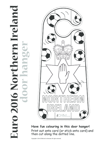 Thumbnail image for the Euro 2016 Northern Ireland Door Hanger activity.