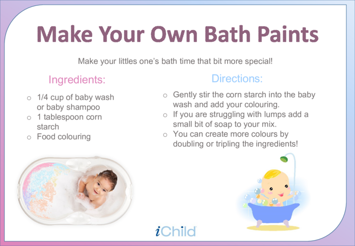 Thumbnail image for the Make Your Own Bath Paints activity.
