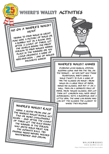 Thumbnail image for the Where's Wally Games activity.