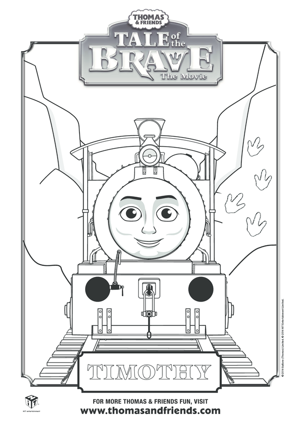 Tale of the Brave, Timothy Colouring in Picture (Thomas & Friends)
