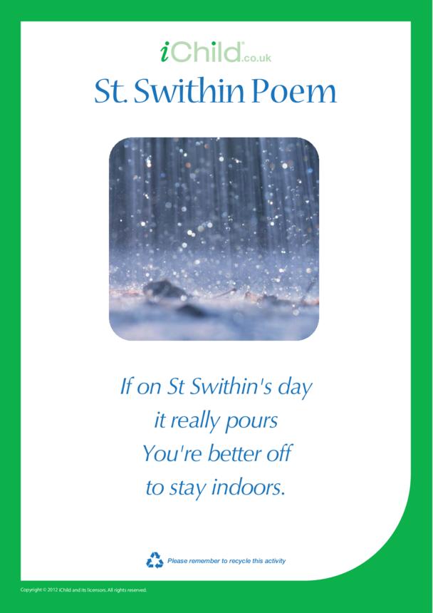 St. Swithin Poem