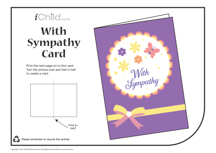 Thumbnail image for the Sympathy Card  activity.