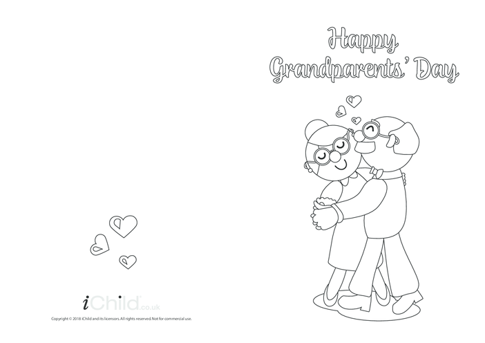Thumbnail image for the Grandparents' Day Card (Ballroom Dancers, Black & White) activity.