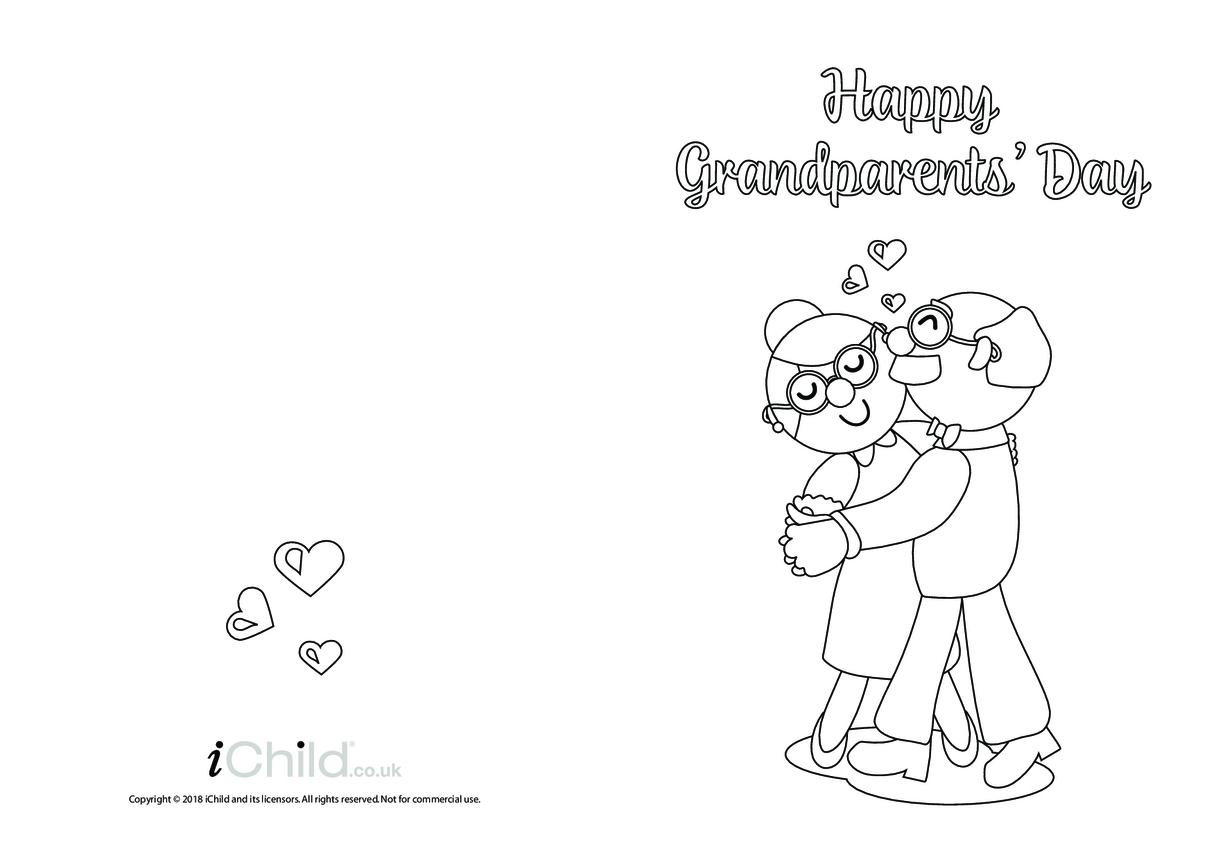 Grandparents' Day Card (Ballroom Dancers, Black & White)