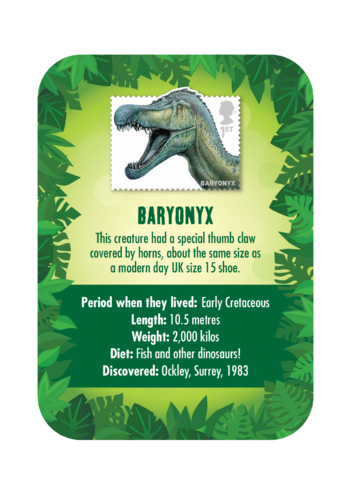 Thumbnail image for the Dinosaur Fact Card- Baryonyx (A4) activity.