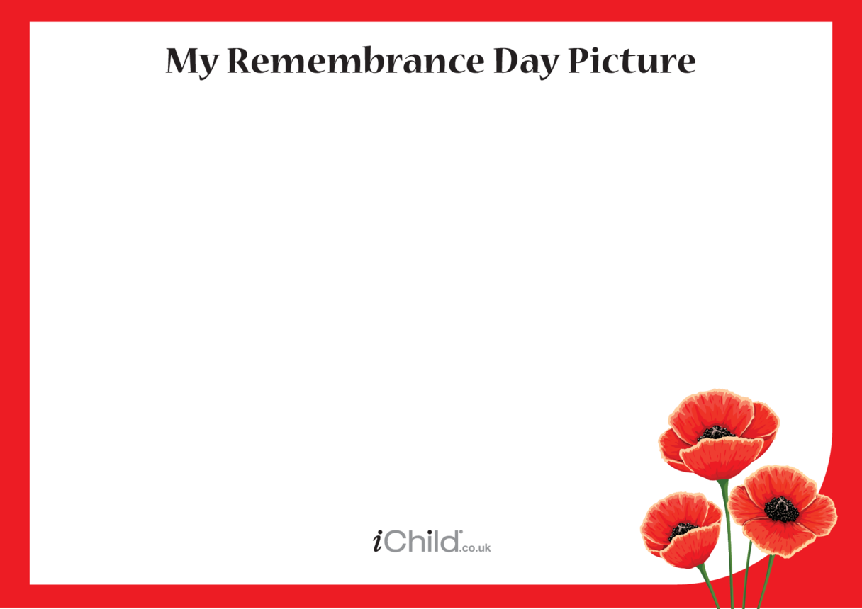 Remembrance Day Blank Drawing Template