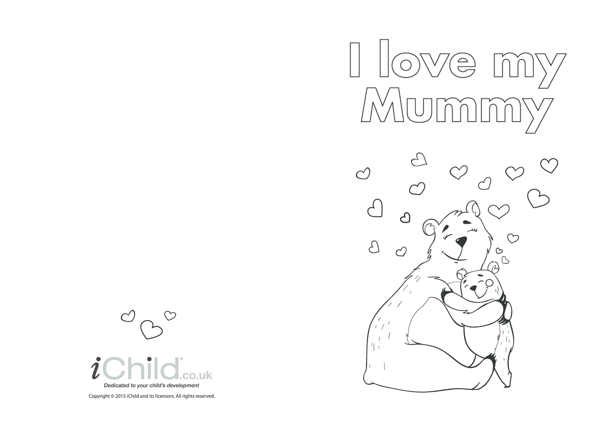 Mother's Day Card - I Love my Mummy