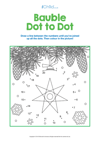 Thumbnail image for the Dot to Dot Baubles activity.