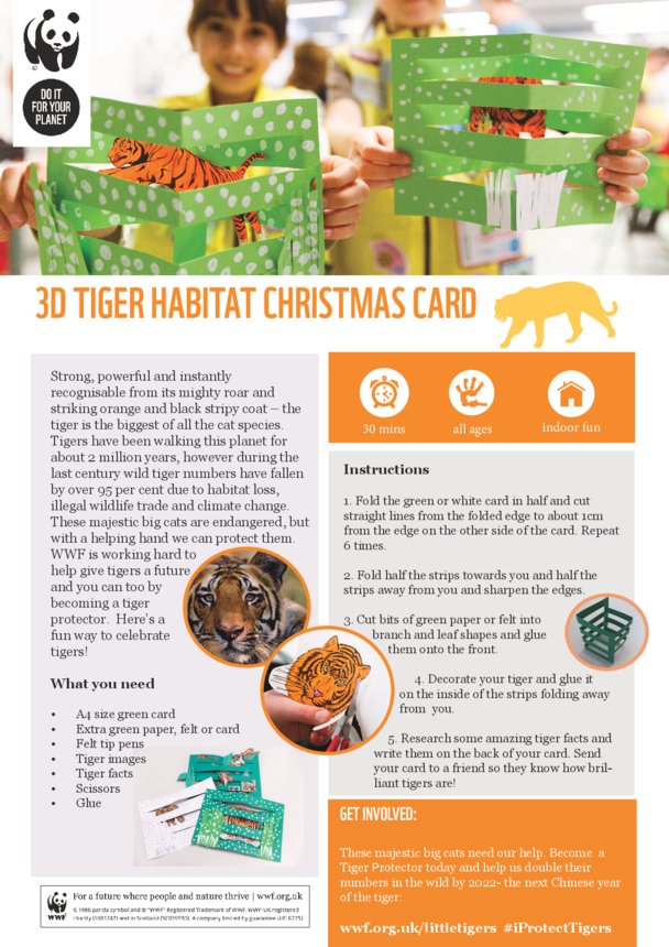 WWF Tiger 3D Christmas Card