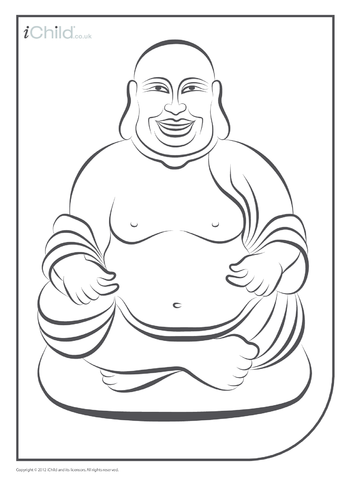 Thumbnail image for the Buddha Colouring in Picture activity.