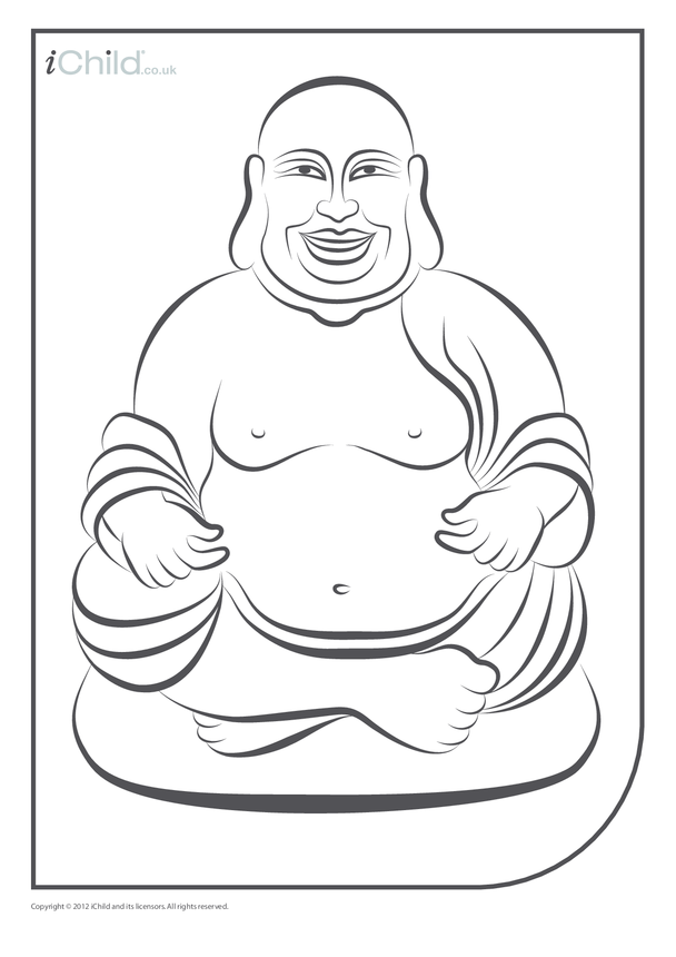 Buddha Colouring in Picture